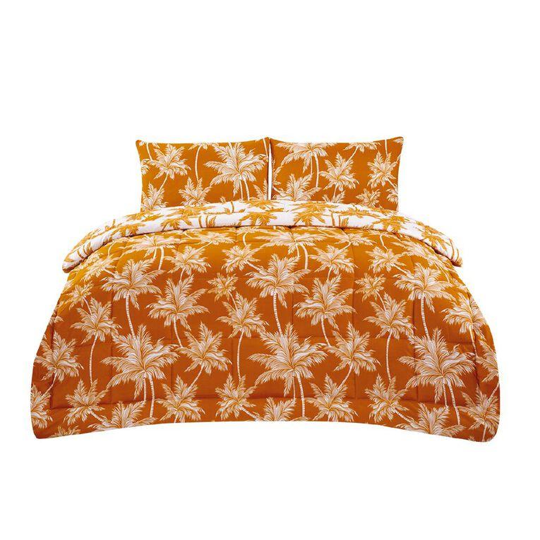Living & Co Comforter Set 3 Piece Sundaze Yellow Queen, Yellow, hi-res