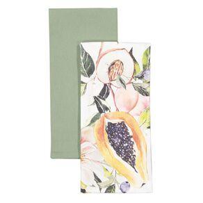 Living & Co Tea Towel Papaya 2 Pack 50cm x 70cm
