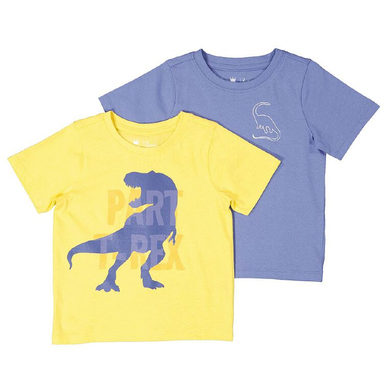 Young Original Toddler 2 Pack Short Sleeve Tee, Yellow Mid, hi-res