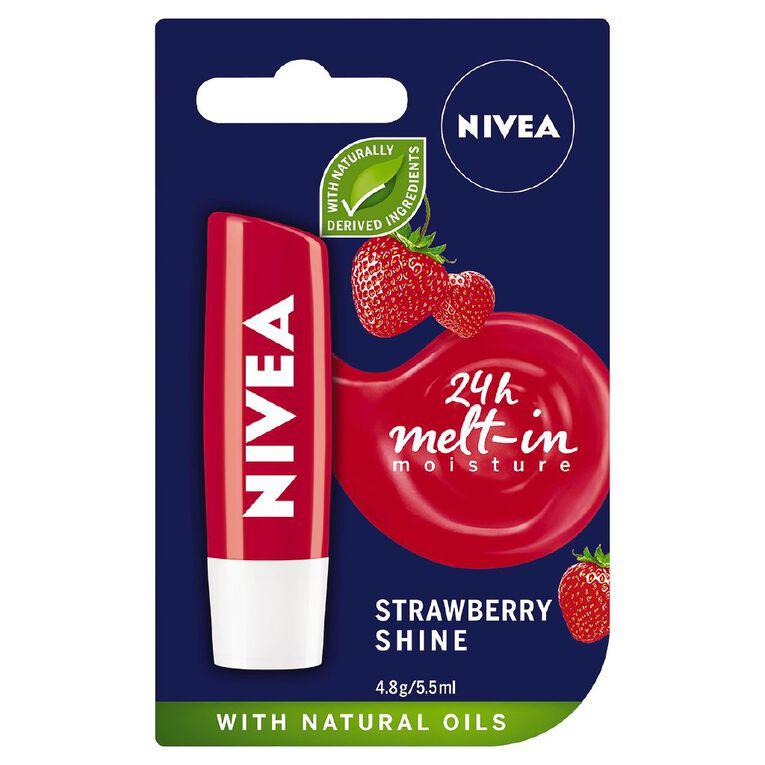 Nivea Care Strawberry Lip Balm 4.8g, , hi-res