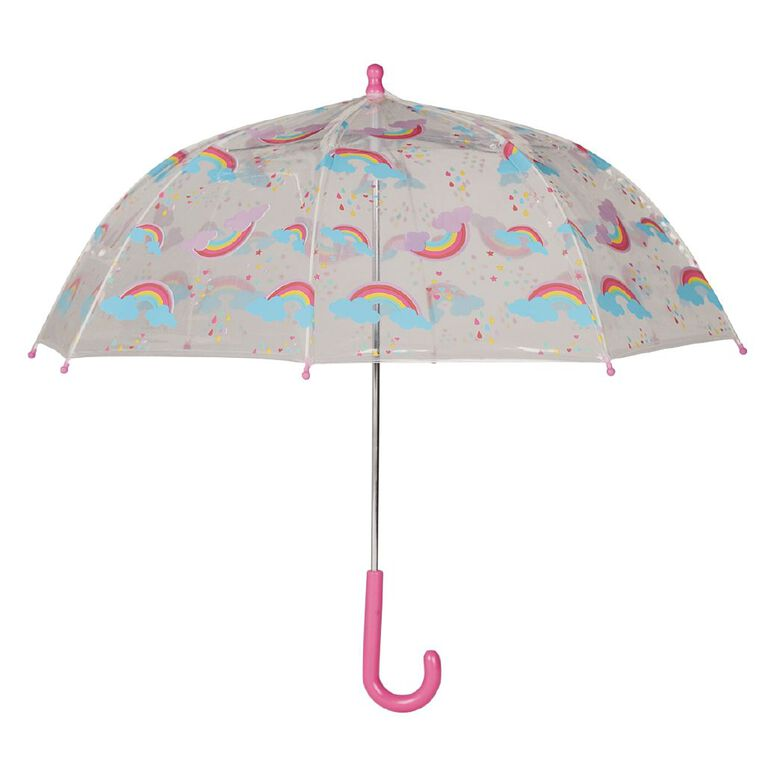 H&H Kid's Rainbow Umbrella, Pink, hi-res