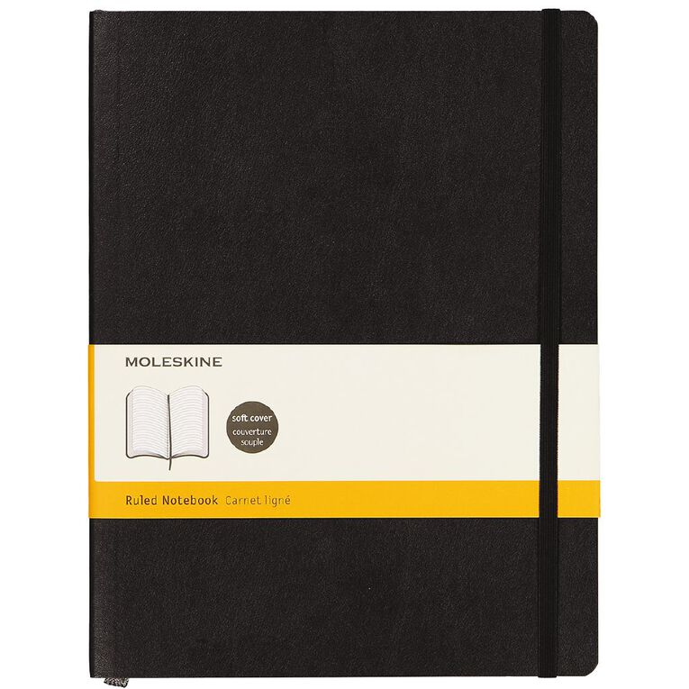 Moleskine Classic Soft Cover Extra Large Notebook Rule Black, , hi-res