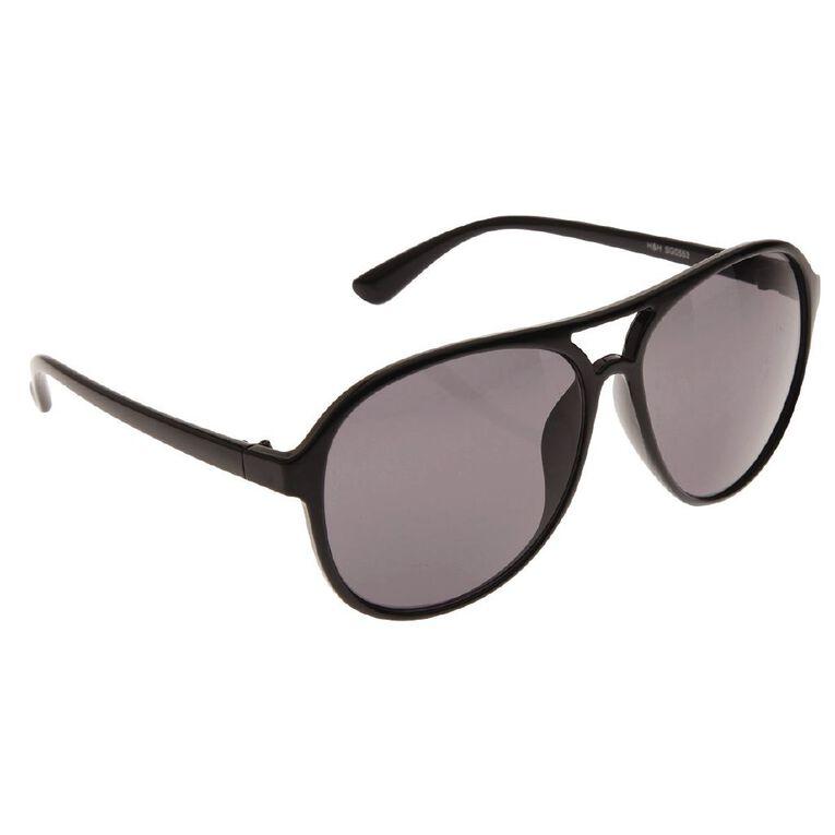 H&H Essentials Unisex Aviator Sunglasses, Black, hi-res
