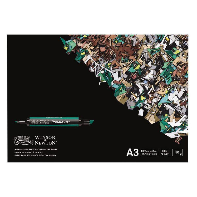 Winsor & Newton Marker Paper Pad Bleedproof 50 Sheets A3, , hi-res