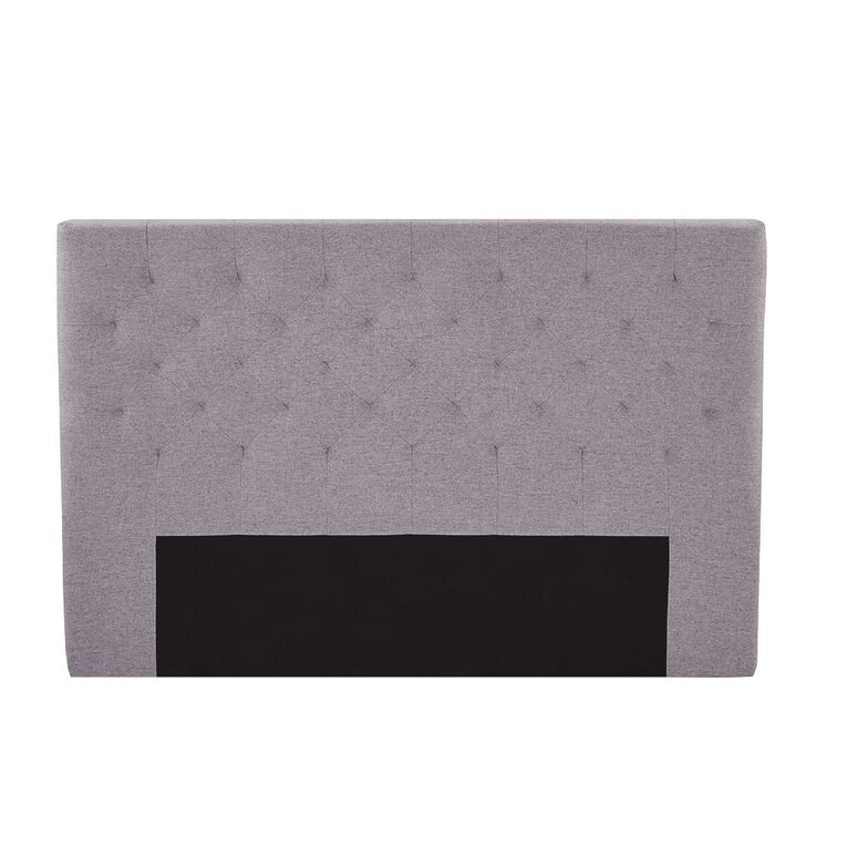 Living & Co Tufted Fabric Headboard Charcoal King, , hi-res