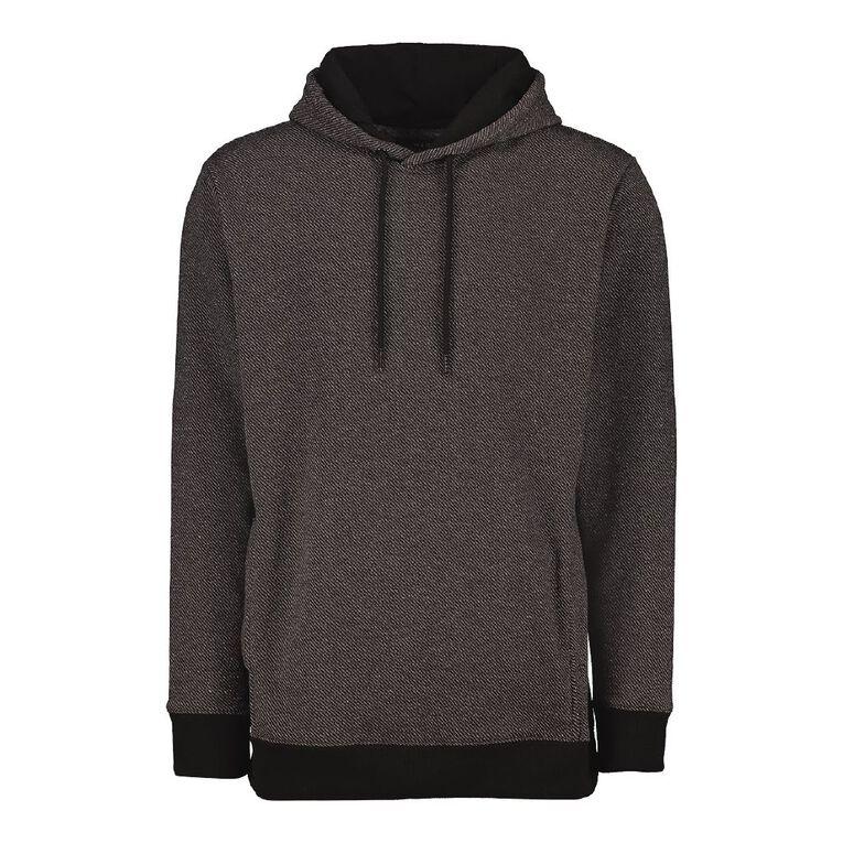 H&H Men's Marled Fleece Hooded Sweatshirt, Charcoal/Marle, hi-res