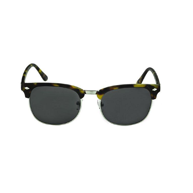 H&H Unisex Browbar Tort Sunglasses, Brown, hi-res image number null