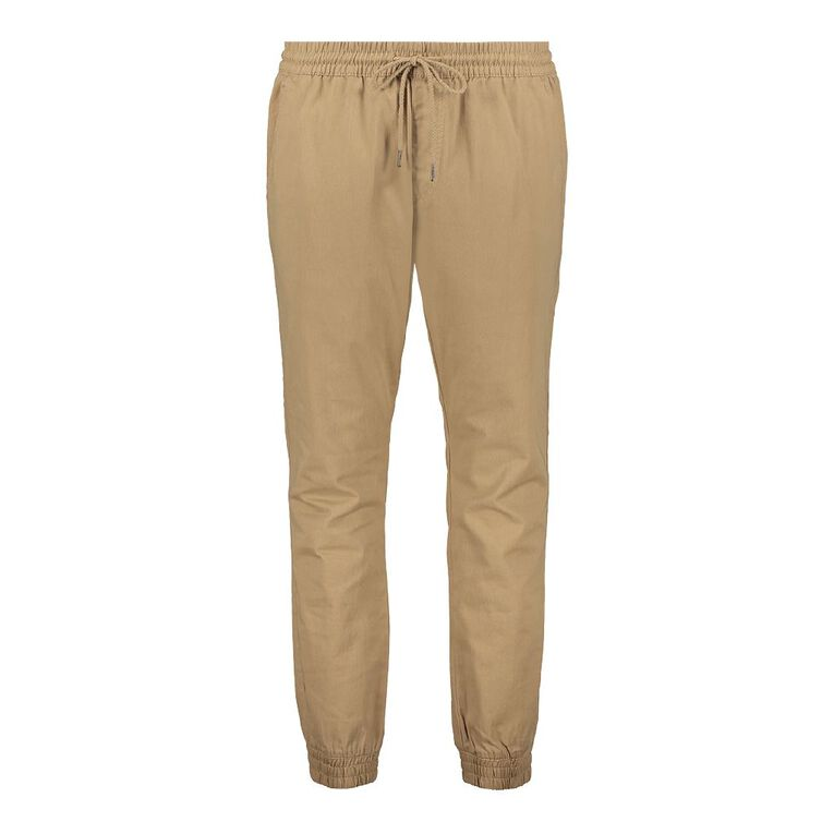 H&H Men's Cuffed Jogger Chino Pants, Beige, hi-res image number null