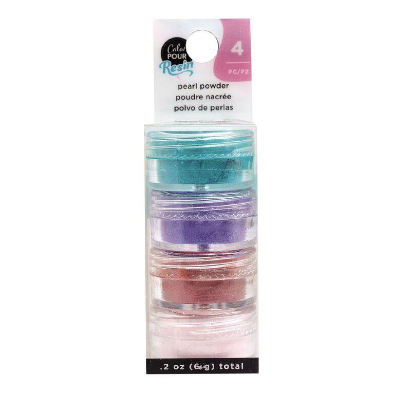 American Crafts Color Pour Mix-Ins Pearlescent Powder Colours 4 Pack, , hi-res