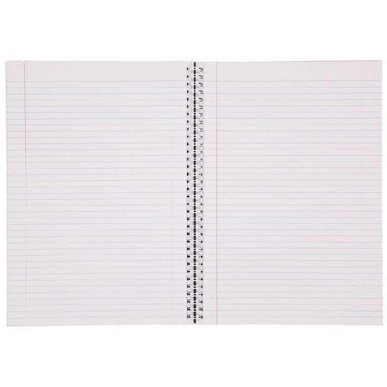 WS Spiral Writing Book 240 Page A4 Wiro Red, , hi-res