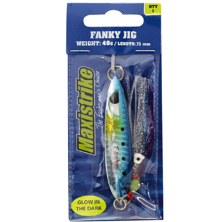 Maxistrike Jigs Fanky 40g Assorted Colours, , hi-res