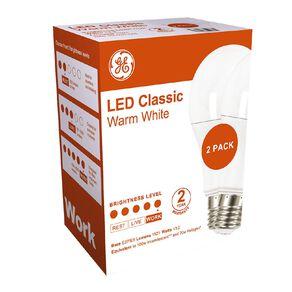 General Electric E27 LED Classic 13.2W Warm White Light Bulb 2 Pack