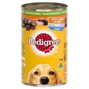 Pedigree Adult Wet Dog Food 5 Kinds Of Meat Loaf 1.2kg Can