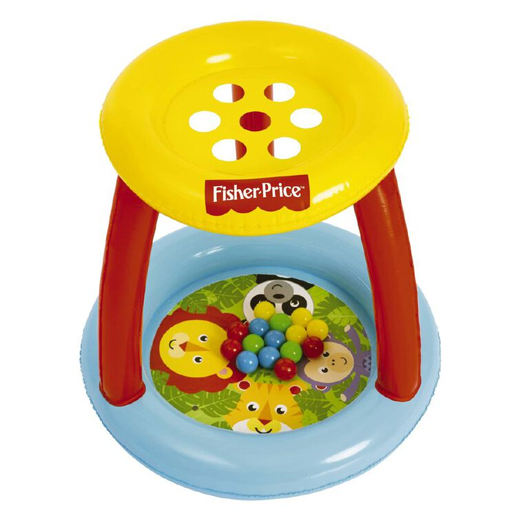 Fisher-Price Bestway Inflatable Ball Pit Animal Friends, , hi-res image number null