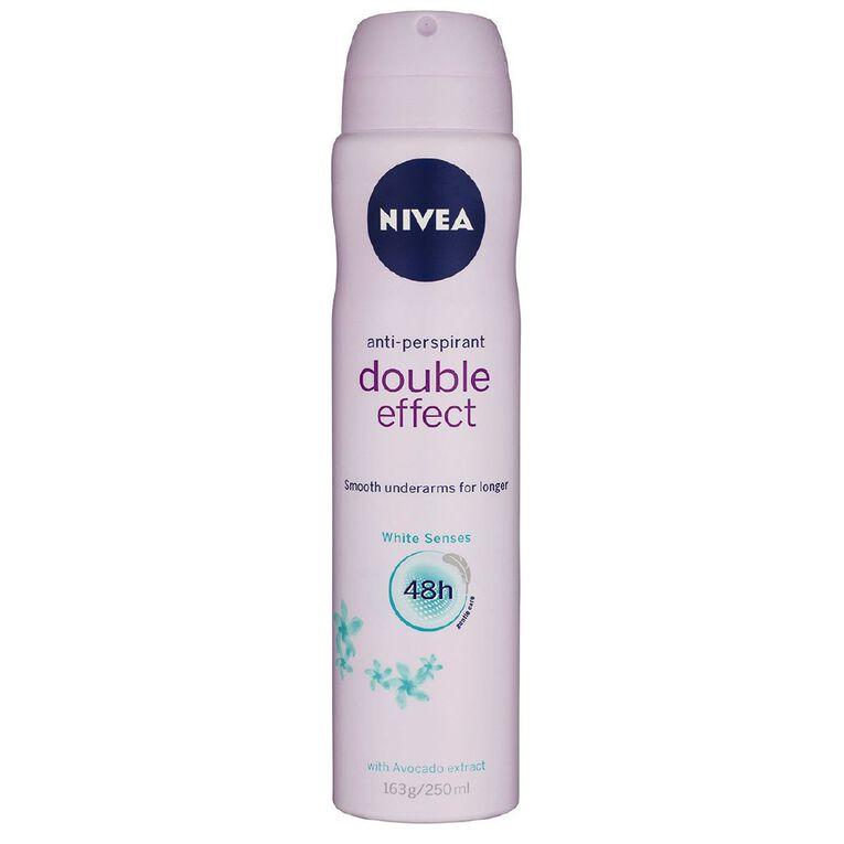 Nivea Deodorant Aerosol Double Effect White Senses 250ml, , hi-res