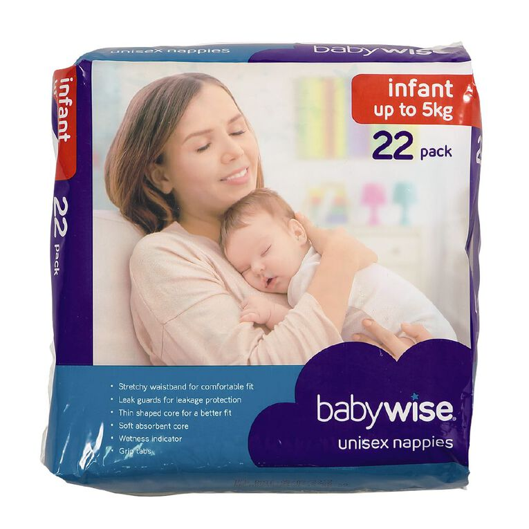 Babywise Nappies Infant Convenience 22 Pack, , hi-res