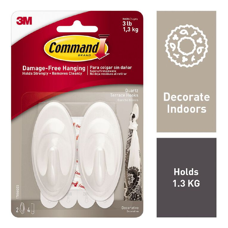 Command Quartz Terrace Hooks Medium 2 Pack, , hi-res