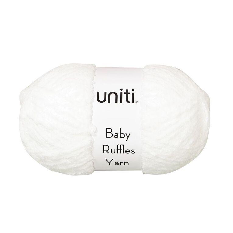 Uniti Yarn Baby Ruffles White 200g, , hi-res