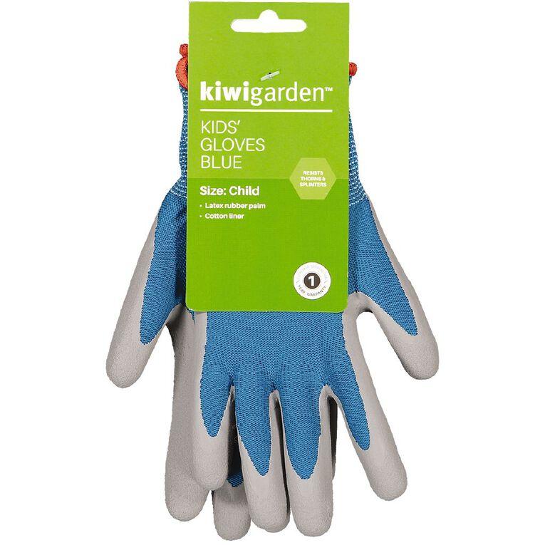 Kiwi Garden Kids Gloves Blue, , hi-res