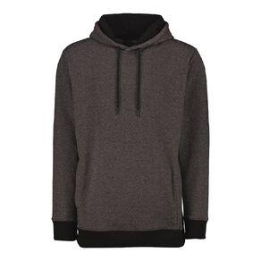 H&H Men's Marled Fleece Hooded Sweatshirt