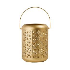 Living & Co Lasercut Lantern Gold Gold 16cm x 23.5cm