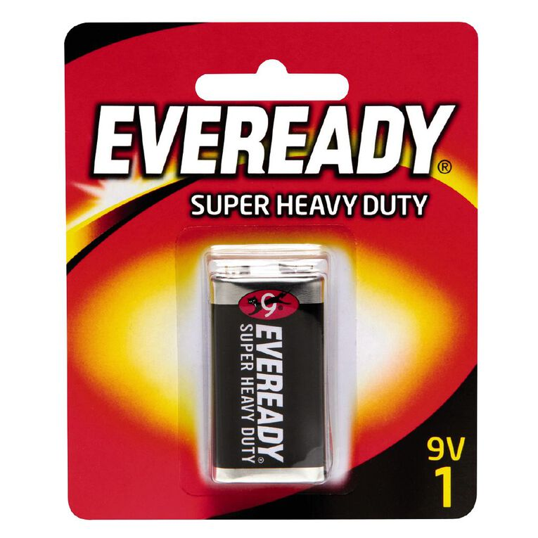 Eveready Super Heavy Duty Batteries 9 Volt, , hi-res