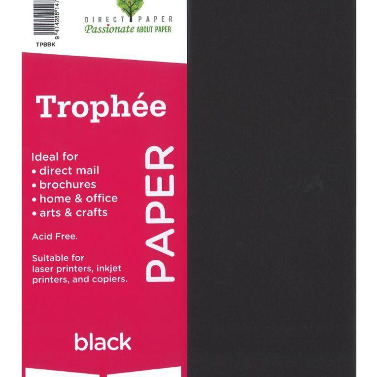 Trophee Paper 80gsm 100 Pack Black A4, , hi-res