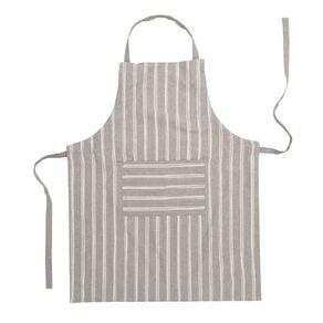 Living & Co Country Stripe Apron Charcoal 70cm x 90cm