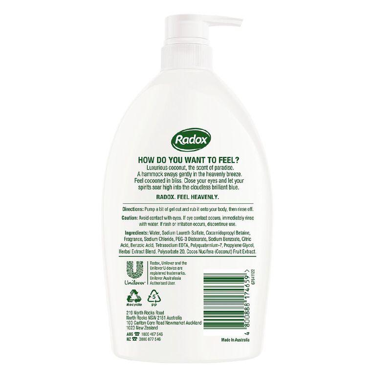 Radox Coconut Rush Shower Gel 1L, , hi-res