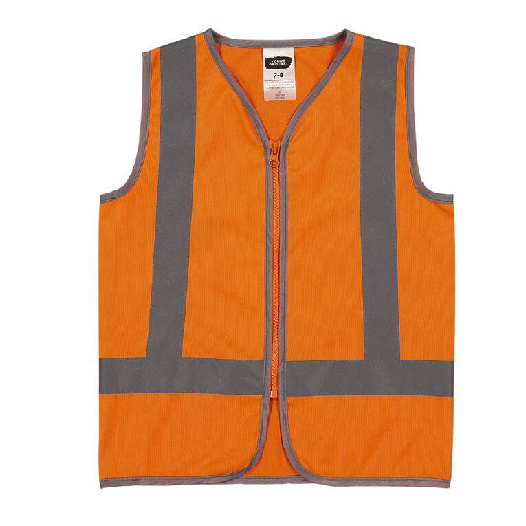 Young Original Kids' Hi Vis Vest, Orange, hi-res