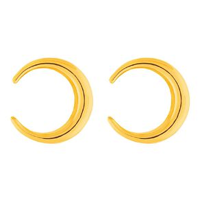 9ct Gold Cresent Moon Stud Earrings