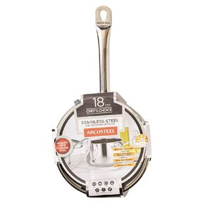 Arcosteel Chefs Choice Stainless Steel Saucepan Silver 18cm