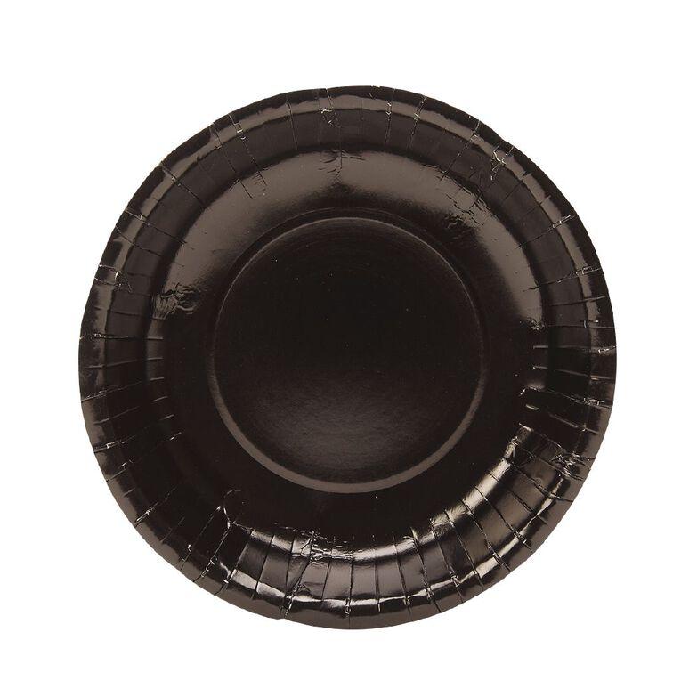 Party Inc Paper Dessert Bowls 18cm Black 20 Pack, , hi-res