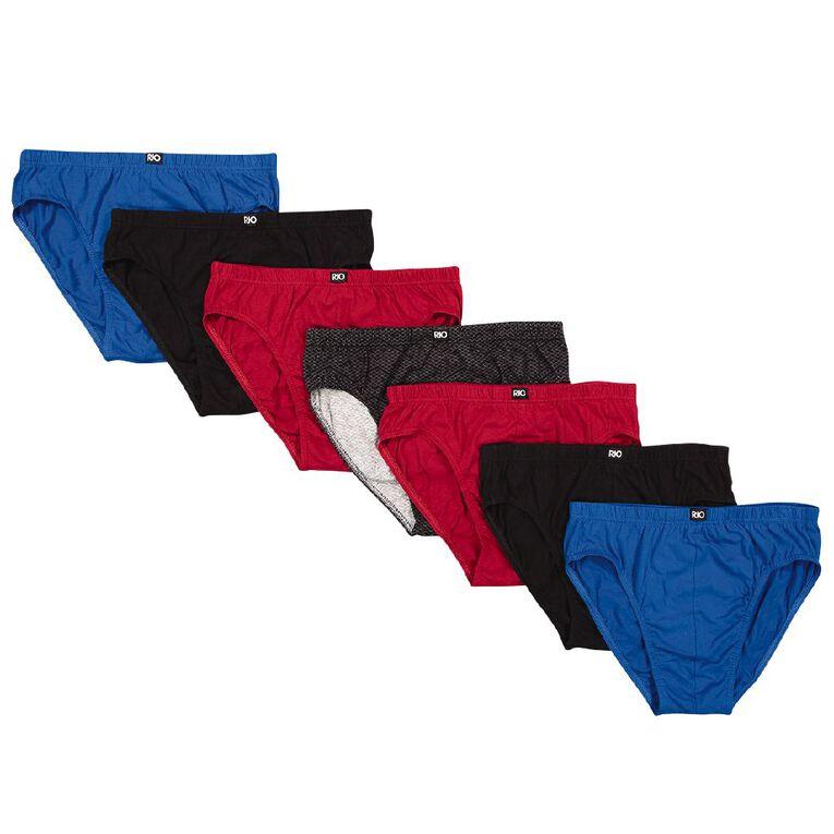 Rio Men's Briefs 7 Pack, Red/Black, hi-res