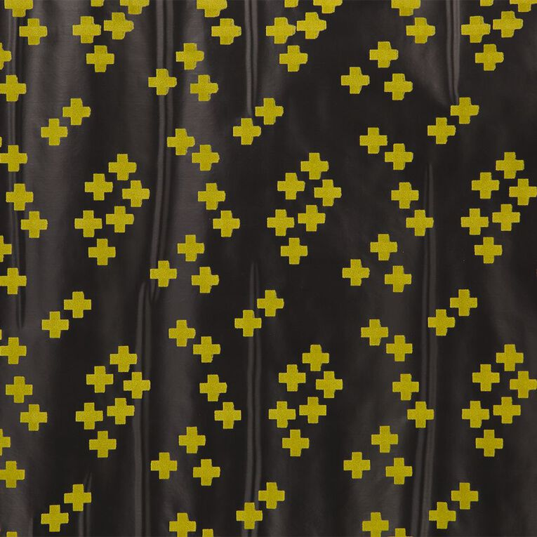 WS Book Cover Flocked Yellow Cross 45cm x 1m, , hi-res