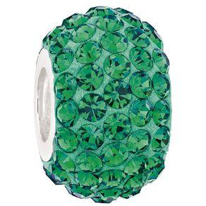 Ane Si Dora Sterling Silver Emerald Crystal Charm
