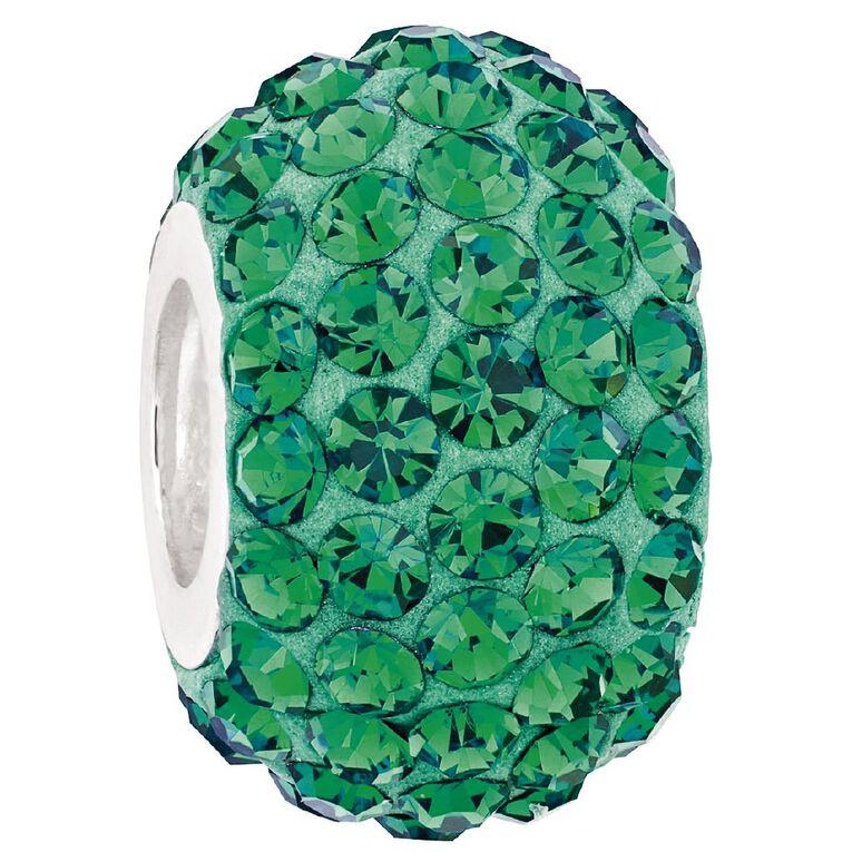 Ane Si Dora Sterling Silver Emerald Crystal Charm, , hi-res