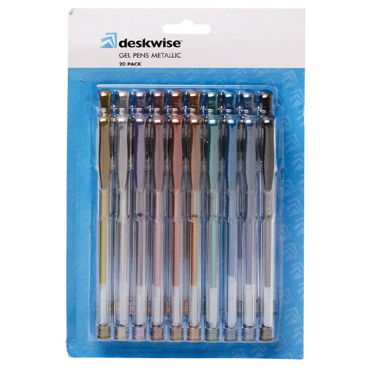 WS Gel Pens Metallic Mixed Assortment 20 Pack, Mixed Assortment, hi-res