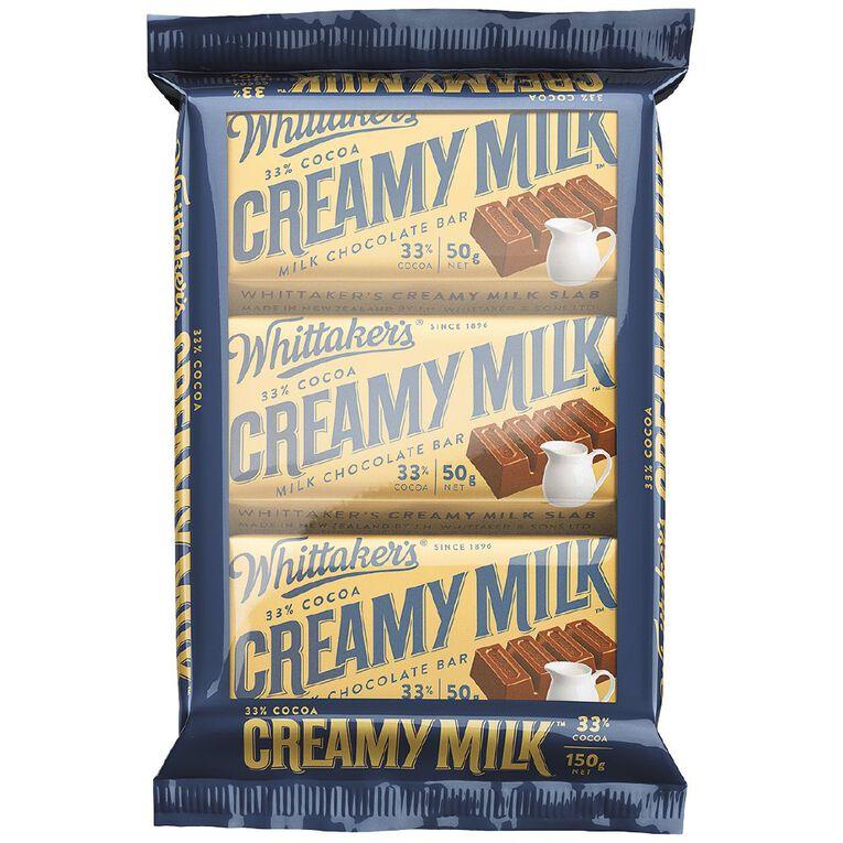 Whittaker's Multipack Slab Creamy Milk 3 Pack, , hi-res