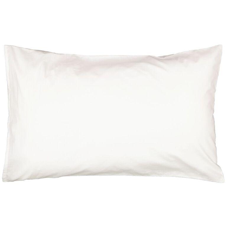 Living & Co Kids Pillowcase 180 Threadcount Gamer White 48cm x 73cm, White, hi-res