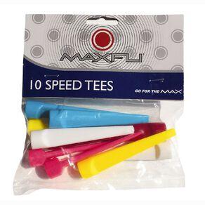 Maxfli Speed Tees Multi-Coloured 10 Pack