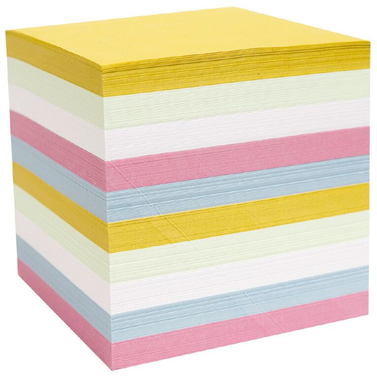 WS Memo Cube Refill Full Size Pastel Colour, , hi-res