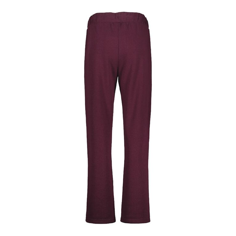 Pickaberry Women's Zip Detail Smart Pant, Purple Dark, hi-res