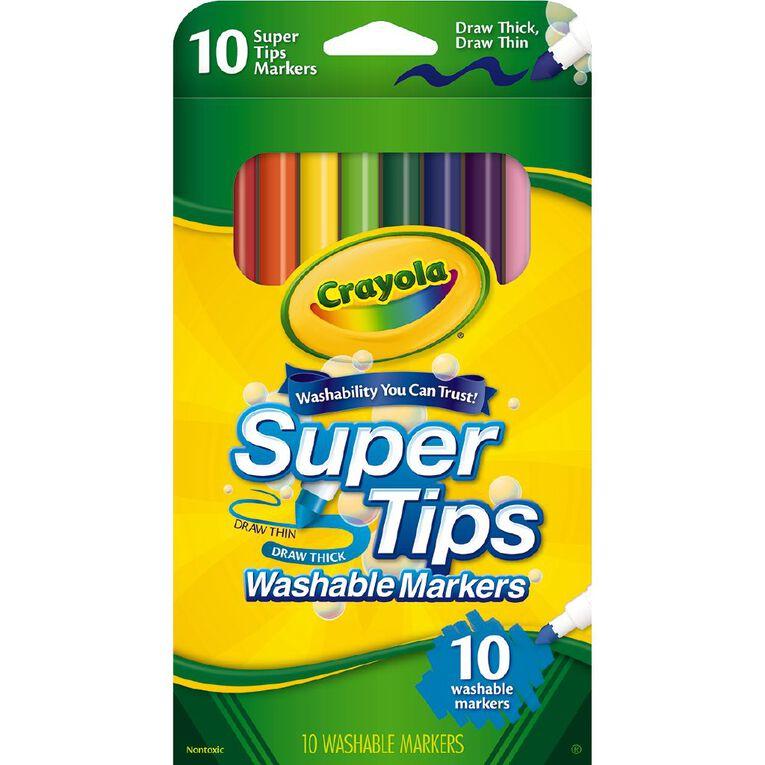 Crayola Super Tip Markers 10 Pack, , hi-res