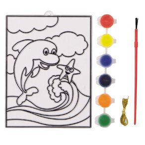 Kookie Paint Your Own Stained Art Blister Card Sealife