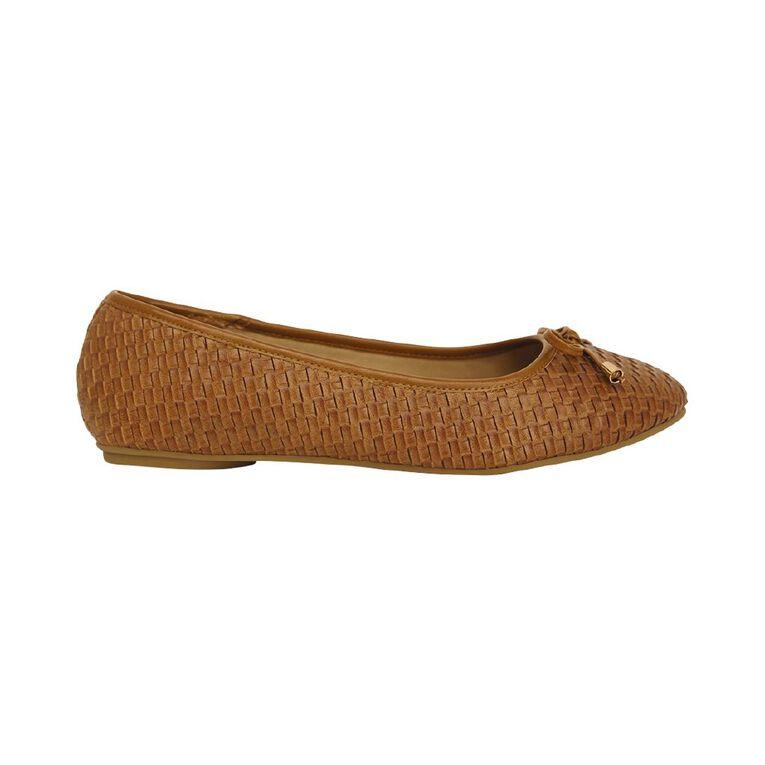 H&H Brooke Ballet Shoes, Tan, hi-res