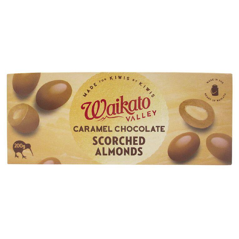 Waikato Valley Chocolates Caramel Chocolate Almonds 200g, , hi-res