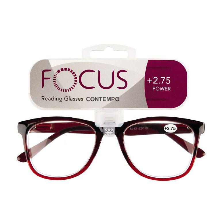 Focus Reading Glasses Contempo 2.75, , hi-res