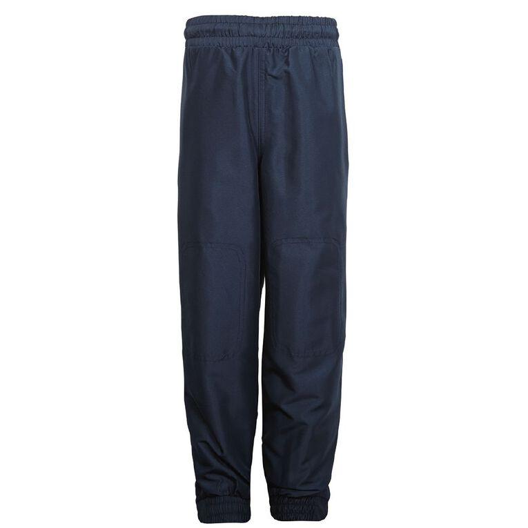 Schooltex Cuffed Leg Pongee Trackpants, Navy, hi-res