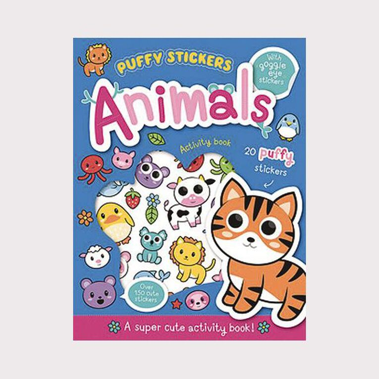 Wobbly-Eye Puffy Sticker Activity: Animals, , hi-res